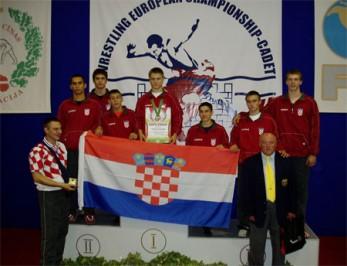 Slika 15. Dominik Etlinger brončani sa kadetskog EP –a u Daugavpilsu (Latvija) 2008. godine.