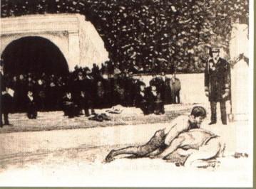 Slika 15. Hrvanje na OI u Ateni 1896 godine.