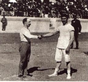 Slika 16. George Tsitas (lijevo) i Carl Schumann (desno) na OI u Ateni 1896 godine.