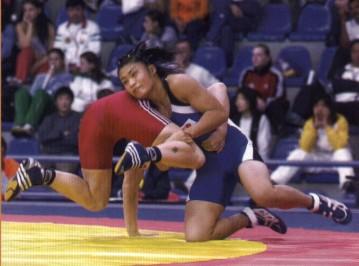 Slika 20. Hrvanje slobodnim načinom za žene olimpijska je disciplina od Atene 2004 godine.