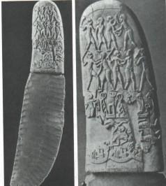 Slika 4. Nož i korice od noža s motivima hrvača (3100 godina p.n.e.)