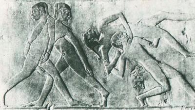 Slika 5. Hrvači – Sjeverna Sahara, grobnica Ptah-hotepa (2300 godina p.n.e.)