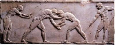 Slika 9. Reljef na pogrebnom spomeniku kurosu (Nacionalni arheološki muzej u Ateni, 510 god.p.n.e.)
